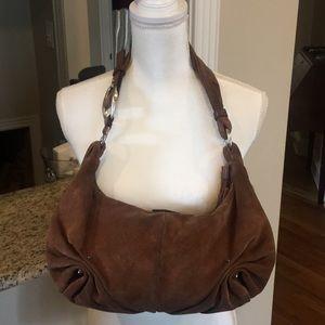 Vintage Yves Saint Laurent Suede Hobo Bag